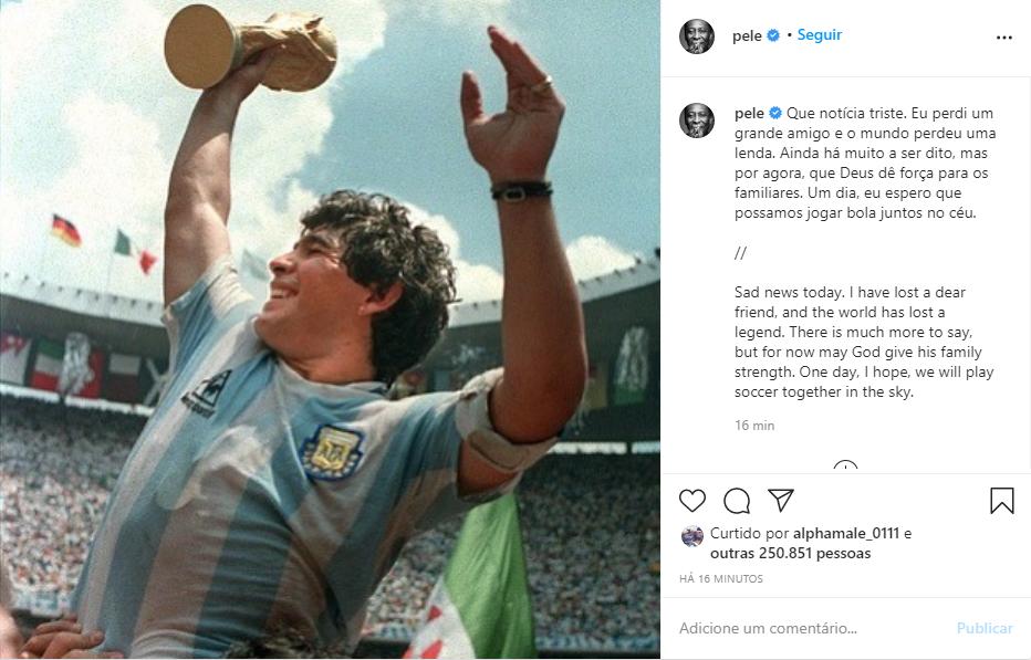 Captura de Tela 177 - Morre Diego Maradona aos 60 anos, ele teve uma parada cardiorrespiratória