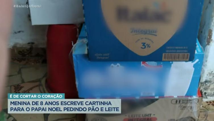 """Captura de Tela 185 - Menina de 9 anos escreveu uma carta para o Papai Noel pedindo """"pão e leite"""" conheça a história"""
