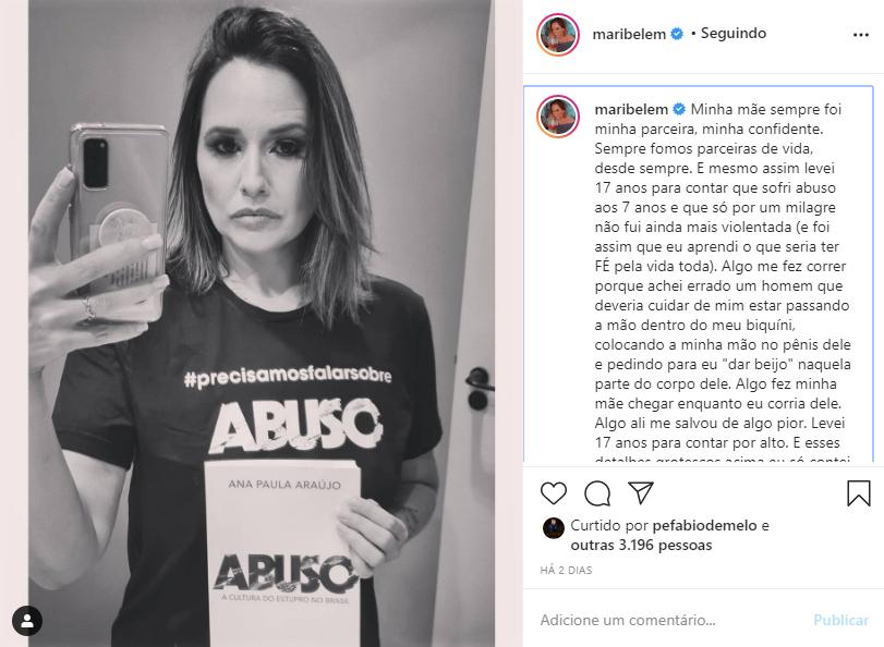 Captura de Tela 192 - Filha de Fafá de Belém, Mariana fala de abuso que sofreu aos 7 anos e revelou para a mãe 33 anos após