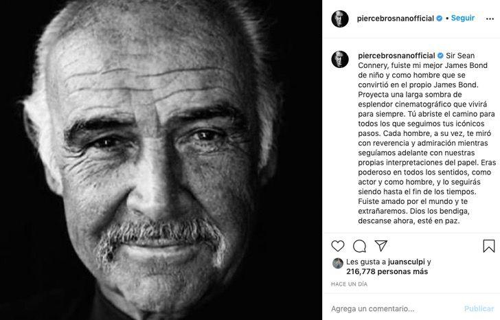 """jamesbond sean connery pierce brosnan infancia0004 - """"Você foi meu melhor James Bond"""": Pierce Brosnan prestou uma bela homenagem a Sean Connery após sua partida"""