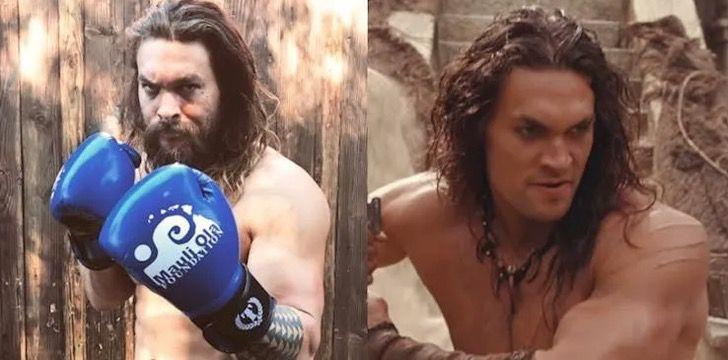 12 - 12 homens famosos que parecem irreconhecíveis sem uma barba. Jason Momoa parece outra pessoa
