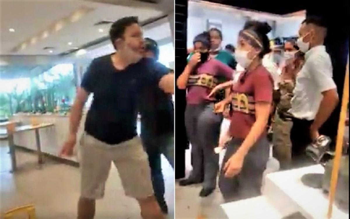 """2 53 - Cliente provoca tumulto em loja do McDonald's por causa de catchup. """"Toda vez sou tapeado"""""""