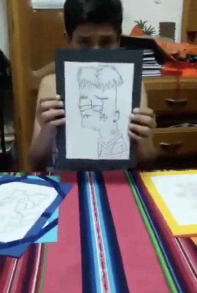 Captura de Pantalla 2020 12 09 a las 10.54.48 689x1024 1 - Um menino de 12 anos colocou seus desenhos à venda para pagar a cirurgia de sua mãe. Eles compraram até na Europa