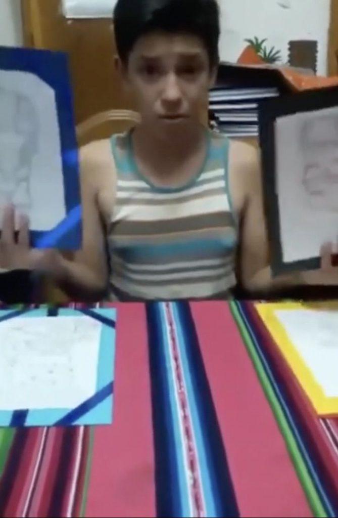 Captura de Pantalla 2020 12 09 a las 10.55.32 669x1024 1 - Um menino de 12 anos colocou seus desenhos à venda para pagar a cirurgia de sua mãe. Eles compraram até na Europa