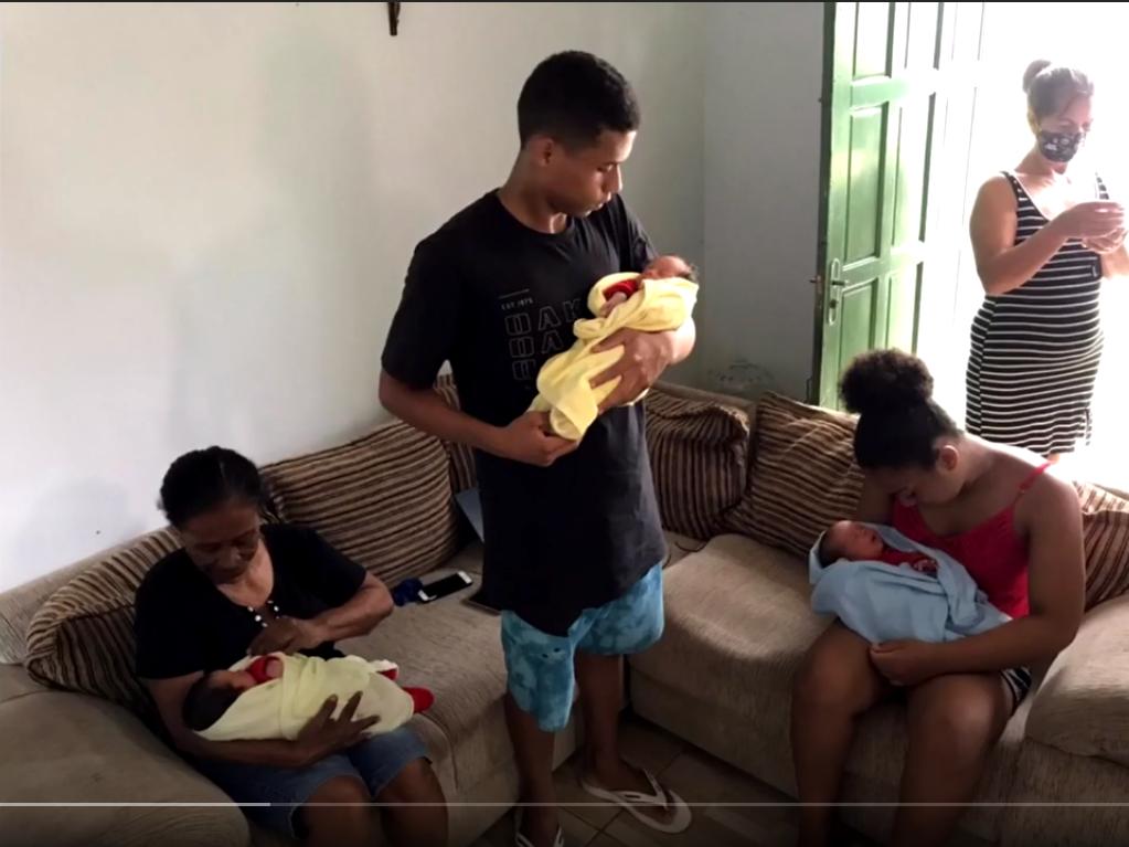 """Captura de Tela 601 - Pai dos trigêmeos nascidos em SC está agradecido com doações após sua esposa falecer: """"Ajuda maravilhosa"""""""