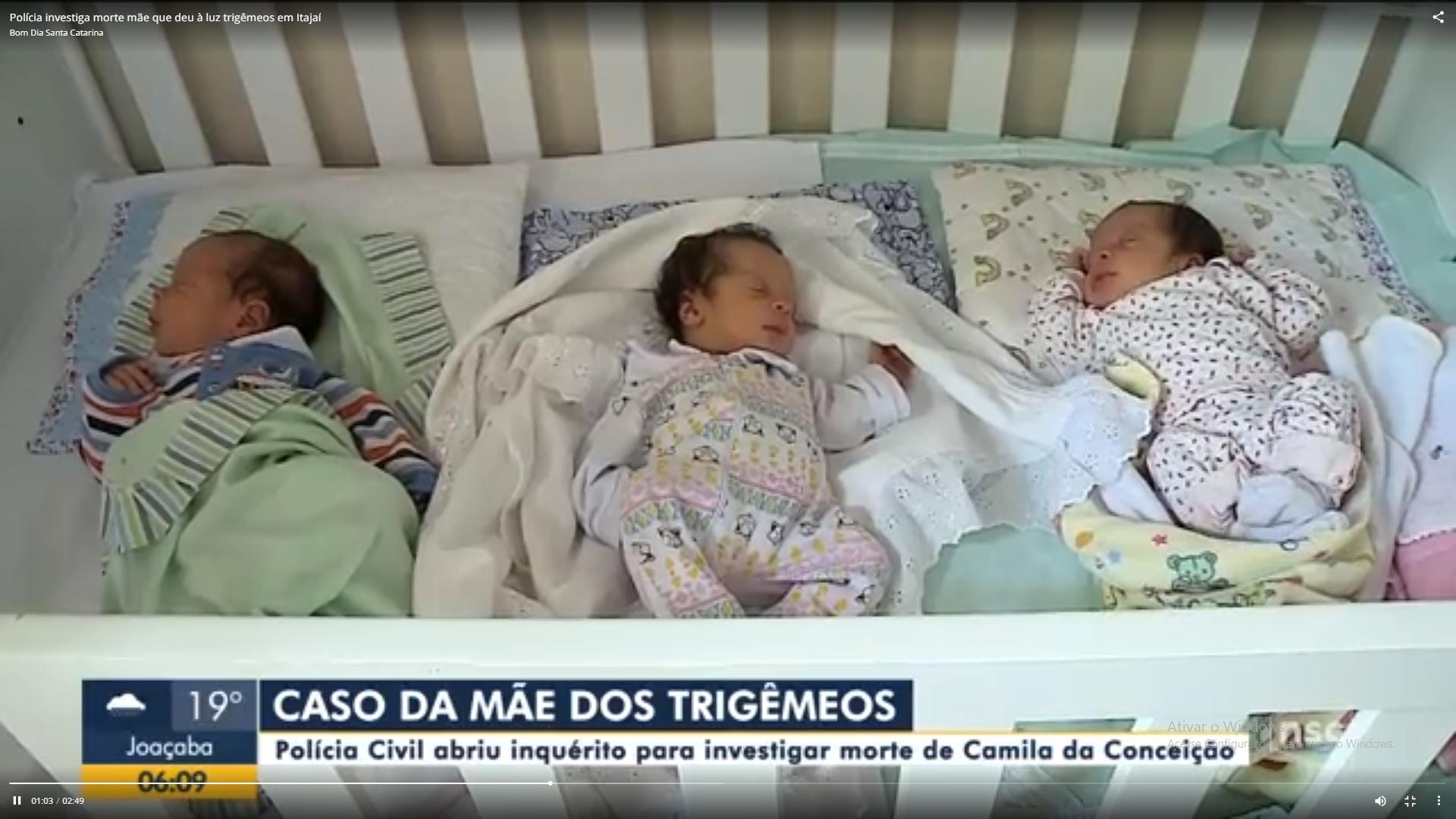 """Captura de Tela 608 - Pai dos trigêmeos nascidos em SC está agradecido com doações após sua esposa falecer: """"Ajuda maravilhosa"""""""