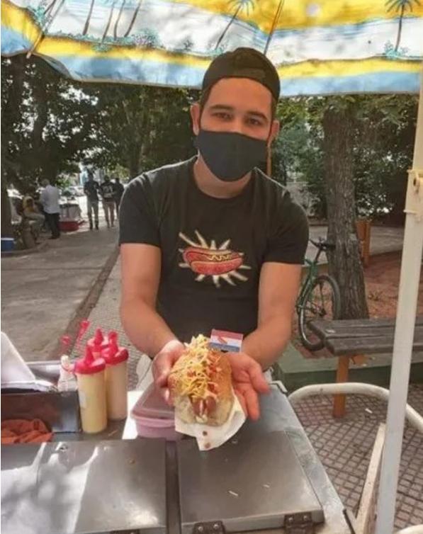 Captura de Tela 331 - Rapaz perdeu o emprego com a pandemia e se recuperou abrindo barraca de Hot Dog