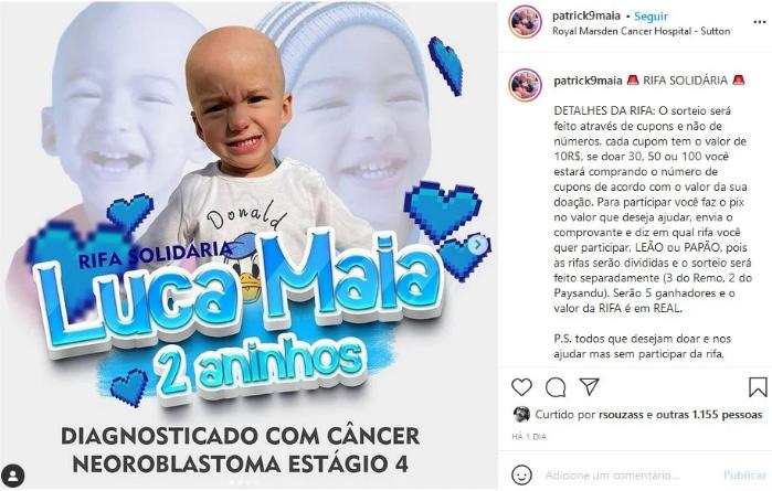 Captura de Tela 678 - Jogador brasileiro paralisa carreira de atacante na Europa e cuida do filho de 2 anos com câncer