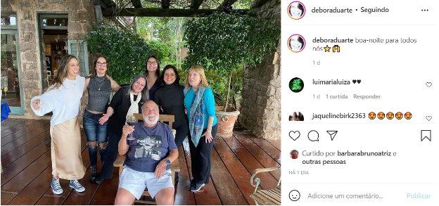 Captura de Tela 821 - Lima Duarte se reuniu com sua família em sítio no interior de SP, 2 anos após e com todos vacinados